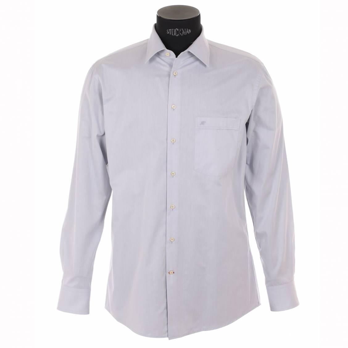 chemise homme sans repassage jean chatel grise rue des hommes. Black Bedroom Furniture Sets. Home Design Ideas