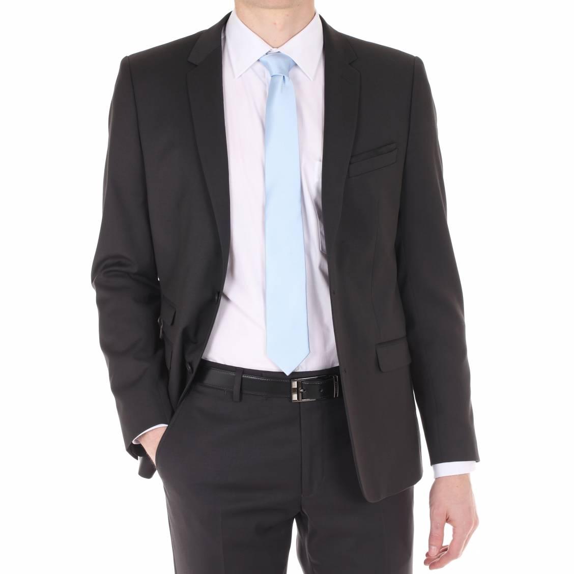 Costume cintré Gianni Ferrucci anthracite. Costume homme Gianni Ferrucci  - Extérieur : Polyester/Viscose (100%) - Anthracite - Doublure