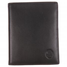 Grand porte-cartes L'Aiglon en cuir de veau Noir