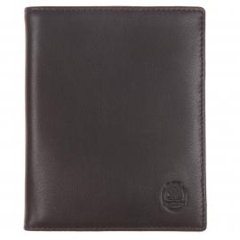 Grand porte-cartes L'Aiglon en cuir de veau marron