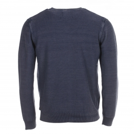Cardigan Selected en coton bleu navy effet vintage