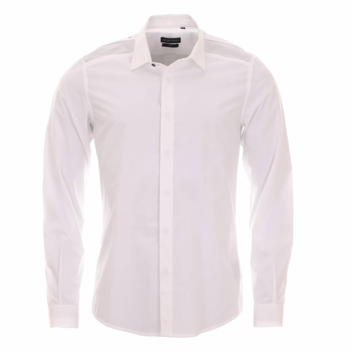 chemise homme cintr e antony morato blanche r sille aux. Black Bedroom Furniture Sets. Home Design Ideas