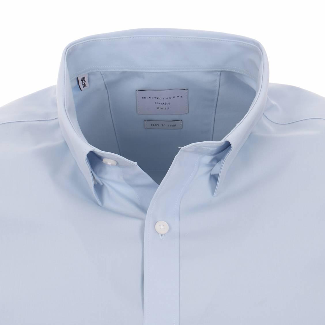 chemise selected bleu ciel