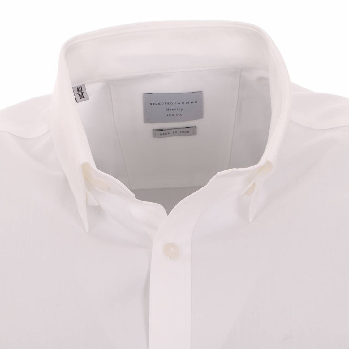 chemise homme selected blanche cintrée