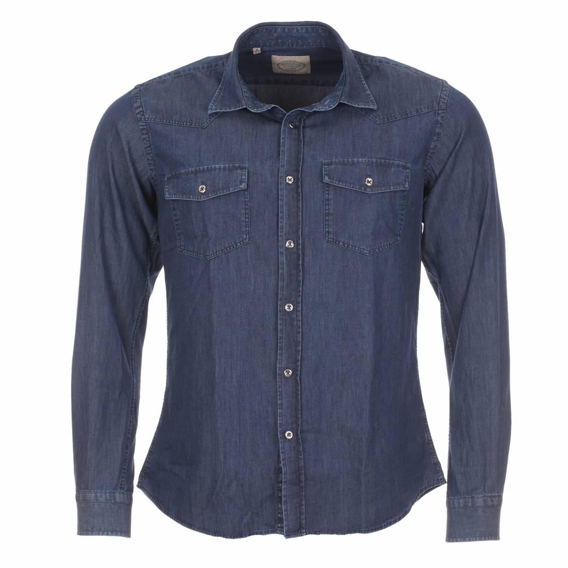 chemise méadrine bleue en jean