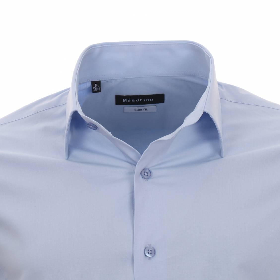 chemise cintrée homme bleu ciel