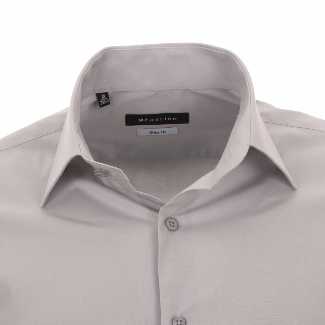 chemise cintrée méadrine grise en coton