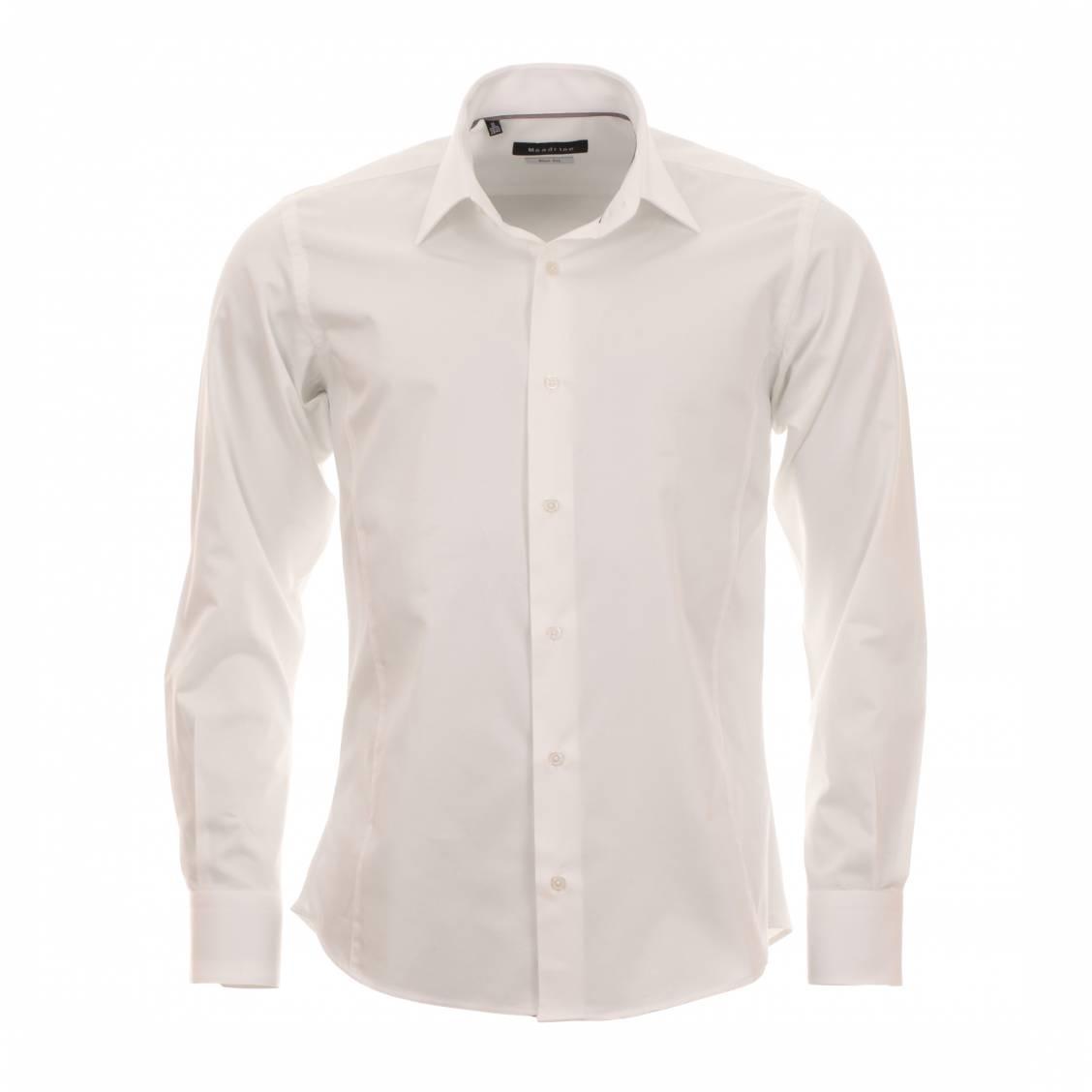 chemise cintrée homme crème
