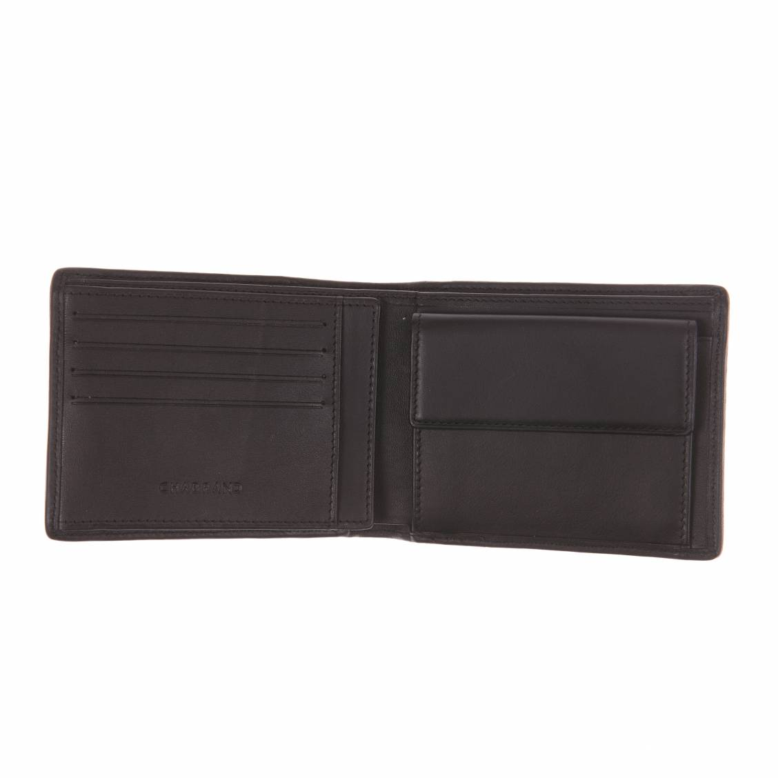 Portefeuille Italien en cuir Noir Chabrand à 3 volets DXJ6IM
