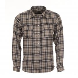 Chemise chaude Best Mountain à carreaux gris, beiges et noirs
