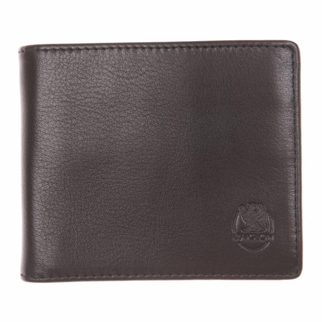 petit portefeuille italien noir à 3 volets en cuir