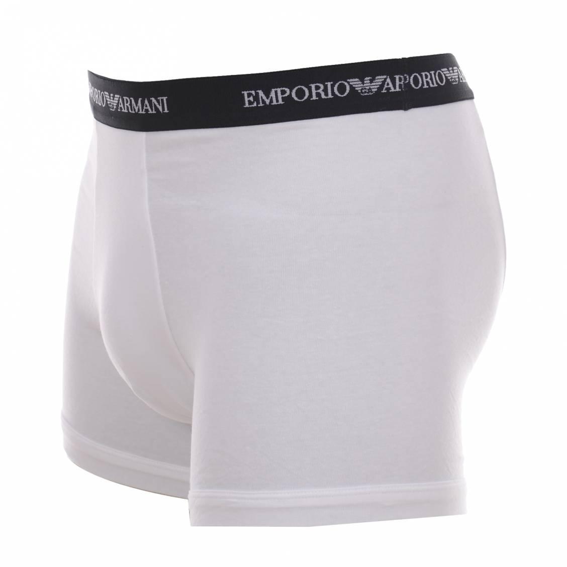 lot de 2 boxers emporio armani en coton stretch