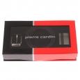 Coffret ceinture Pierre Cardin ajustable et réversible en cuir noir à boucles interchangeables, classique et pleine