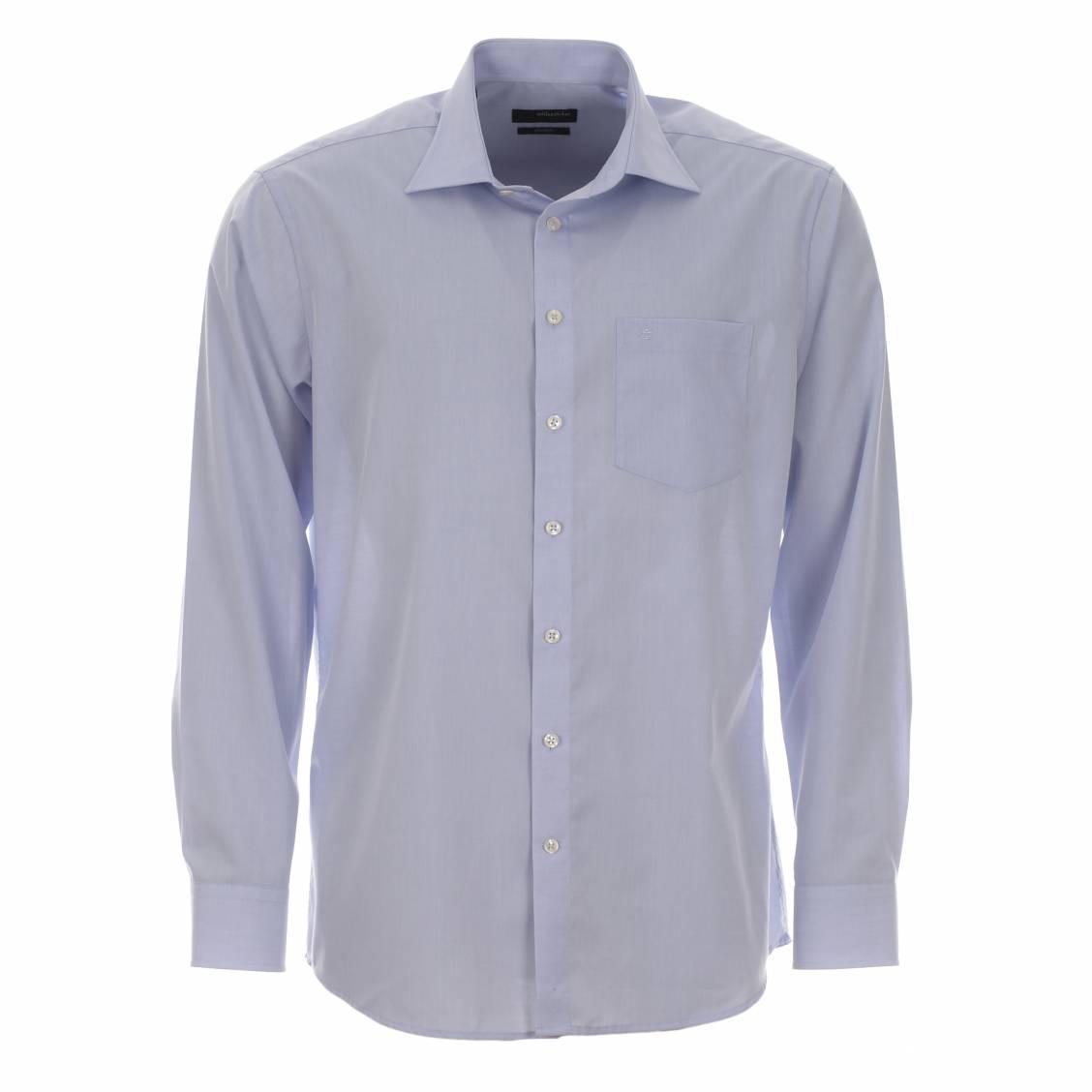 chemise droite seidensticker spendesto sans repassage bleu ciel rue des hommes. Black Bedroom Furniture Sets. Home Design Ideas