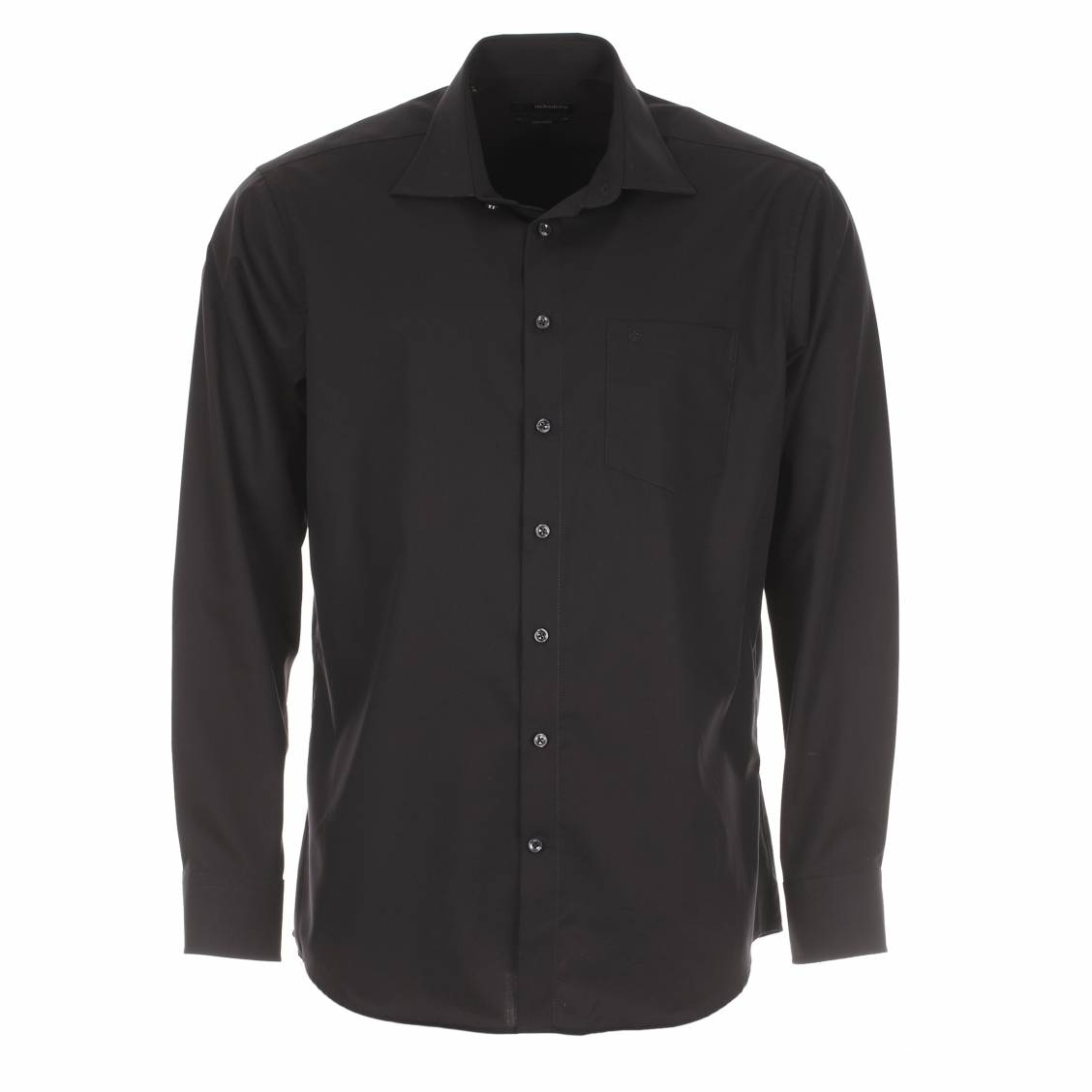chemise droite seidensticker spendesto sans repassage noire rue des hommes. Black Bedroom Furniture Sets. Home Design Ideas