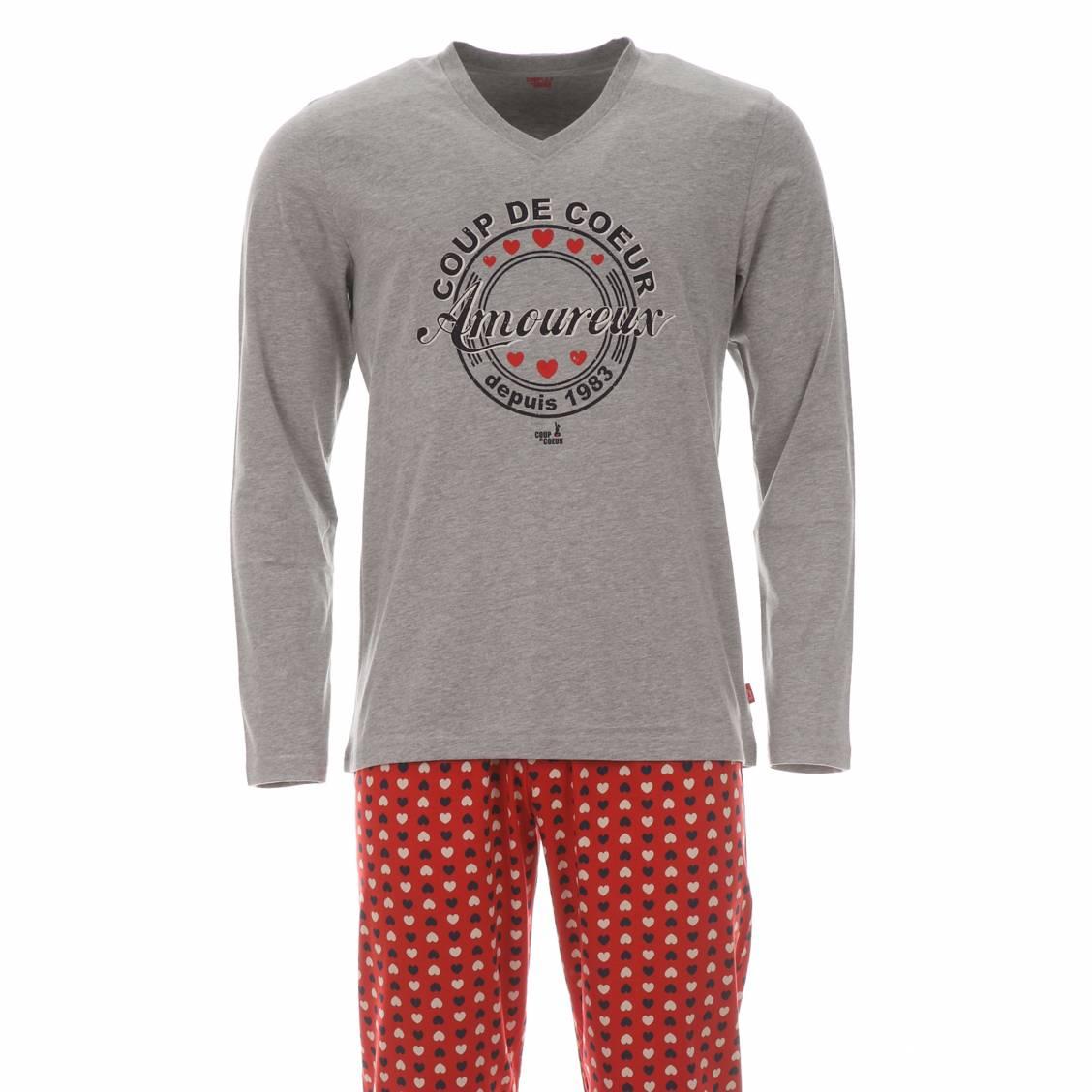 Pyjama chaud vente en ligne de pyjamas d 39 hiver homme rue des hommes - Pyjama homme marque coup de coeur ...