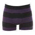 Boxer Eden Park en coton à larges rayures noires et violettes