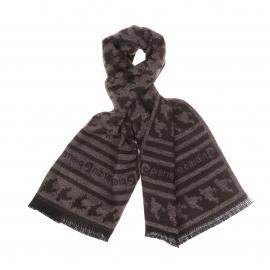 Echarpe Pierre Cardin en laine marron à motifs