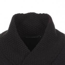 Pull col châle Gianni Ferrucci torsadé en laine noire