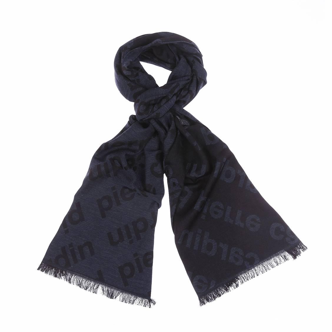 Echarpe bleu marine et noire estampillée