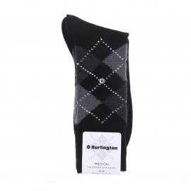 Chaussettes chaudes Burlington Preston noires à losanges gris