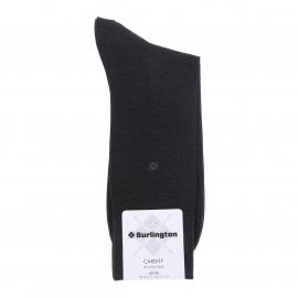 Chaussettes Burlington Cardiff en fil d'écosse gris anthracite