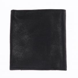 Porte-monnaie carré à 2 volets Arthur&Aston en daim noir