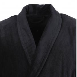 Peignoir d'intérieur Feeling Vossen à col châle en velours noir