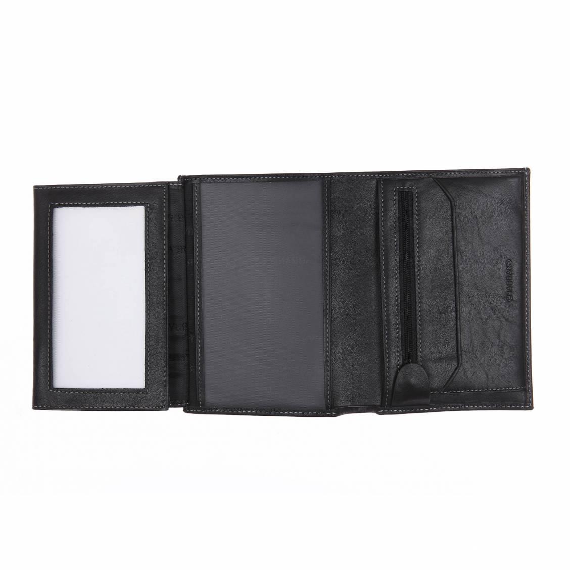 Portefeuille européen à multiples poches transparentes Chabrand noir BdzZRr