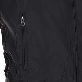 Blouson court Best Mountain en toile enduite et simili cuir noir