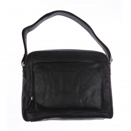 Porte-documents Arthur & Aston en cuir souple noir