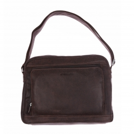 Porte-documents Arthur & Aston en cuir souple marron