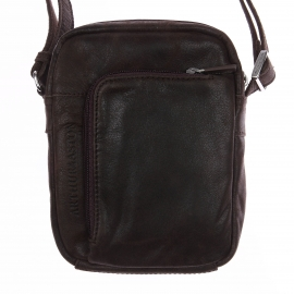 Petite sacoche à bandoulière Arthur & Aston en cuir souple marron