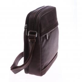 Sacoche carrée à bandoulière Arthur & Aston en cuir vielli marron