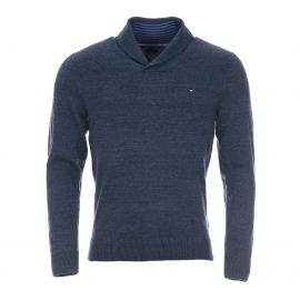 Pull col châle homme