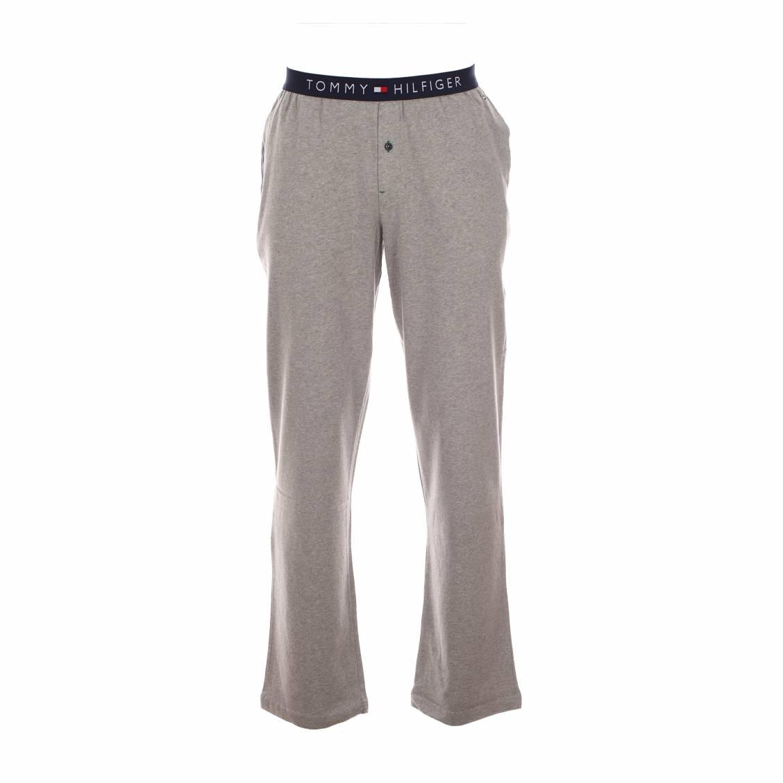 pantalon d 39 int rieur hurman tommy hilfliger en coton gris rue des hommes. Black Bedroom Furniture Sets. Home Design Ideas