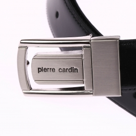 Ceinture Pierre Cardin ajustable et réversible, Boucle design à poinçon
