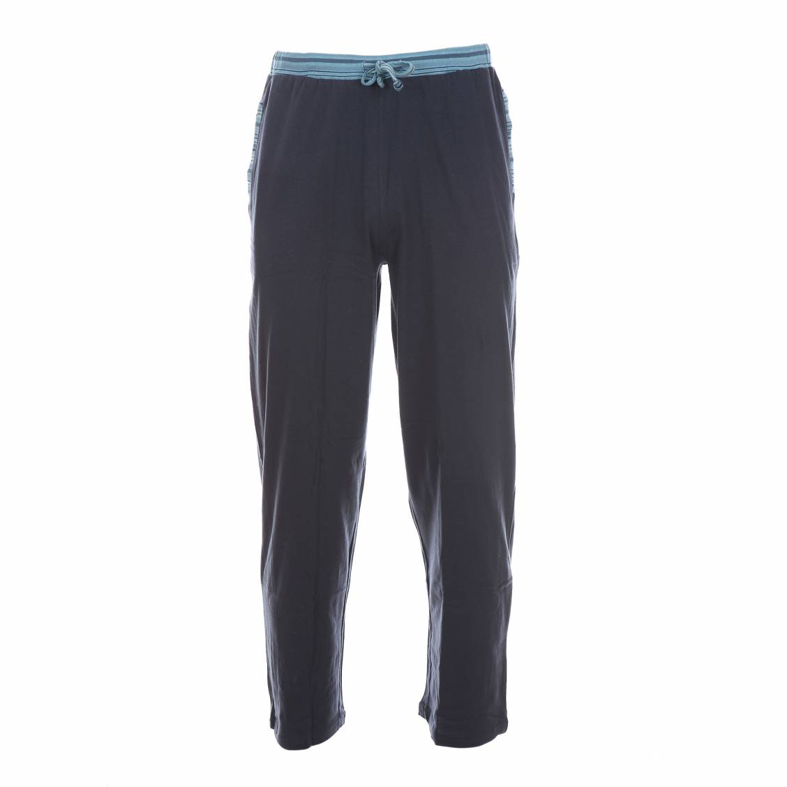 pyjama mariner en jersey de coton turquoise ray blanc bleu gris et anthracite pantalon uni. Black Bedroom Furniture Sets. Home Design Ideas