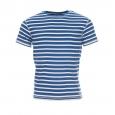 Tee-shirt marin Armor Lux à rayures bleu clair et blanches