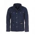 Veste fine zippée et boutonnée Tom Tailor en coton bleu marine à poches