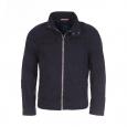 Veste zippée Tom Tailor à col boutonné en coton bleu marine