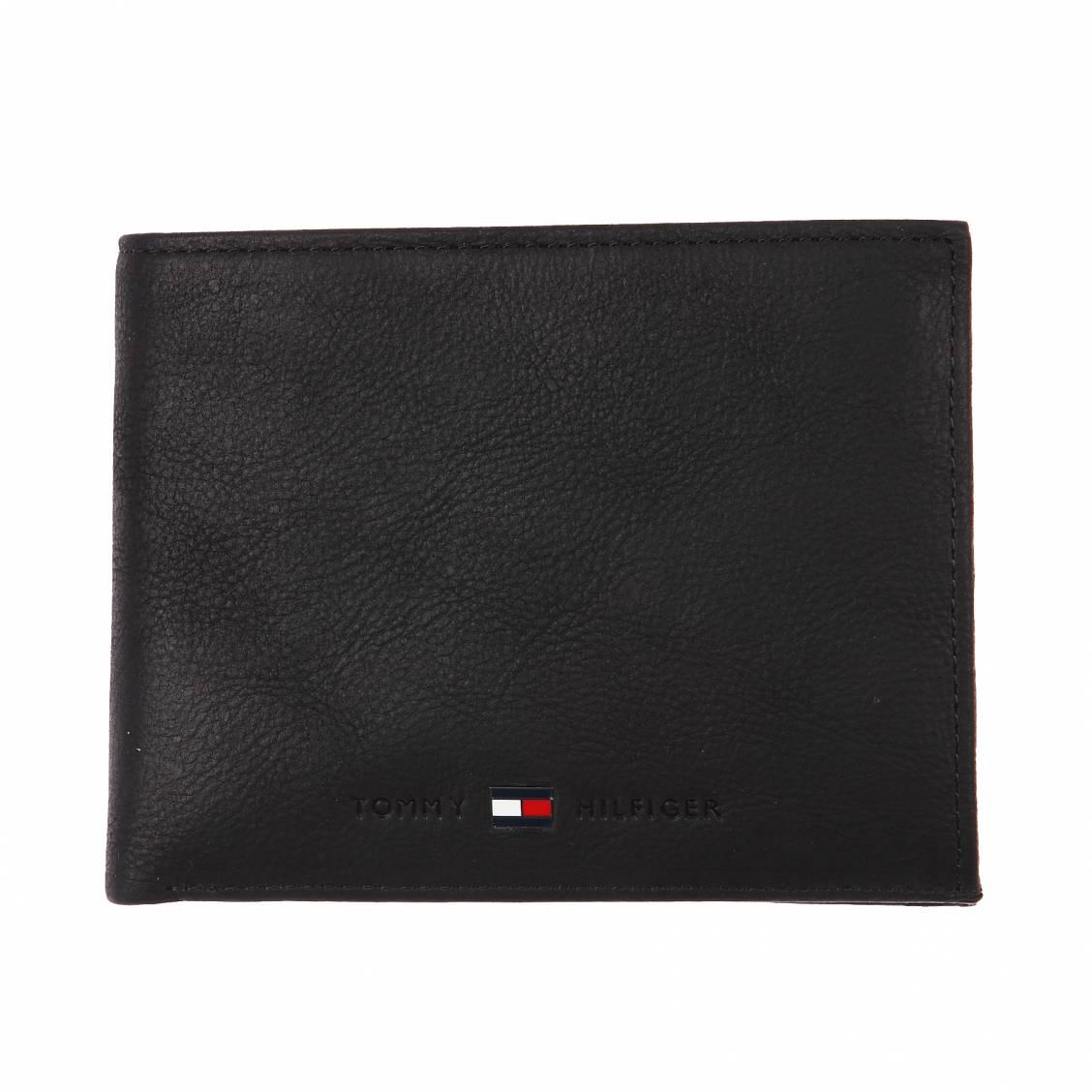portefeuille italien johnson hilfiger en cuir textur 233 noir 224 porte monnaie rue des hommes