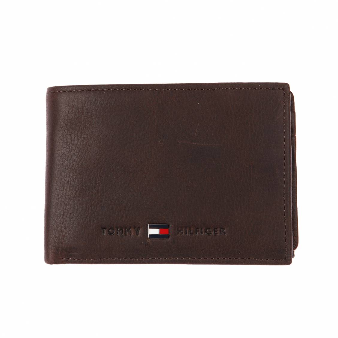 Tommy Hilfiger Portefeuille italien Johnson - 10 cartes Marron TlLPc2jW