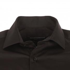 Chemise cintrée manches longues Gianni Ferrucci en coton noir