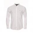 Chemise ajustée manches longues Tommy Hilfiger en popeline blanche