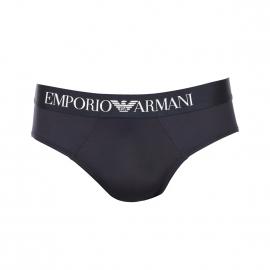 Slip Emporio Armani bleu marine en microfibre