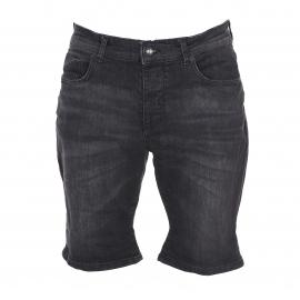 Short Selected en coton noir denim