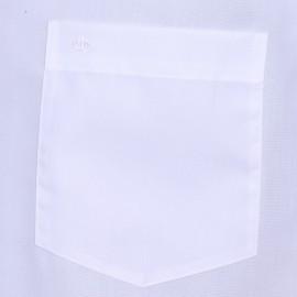 Chemisette droite Seidensticker unie blanche Sans repassage