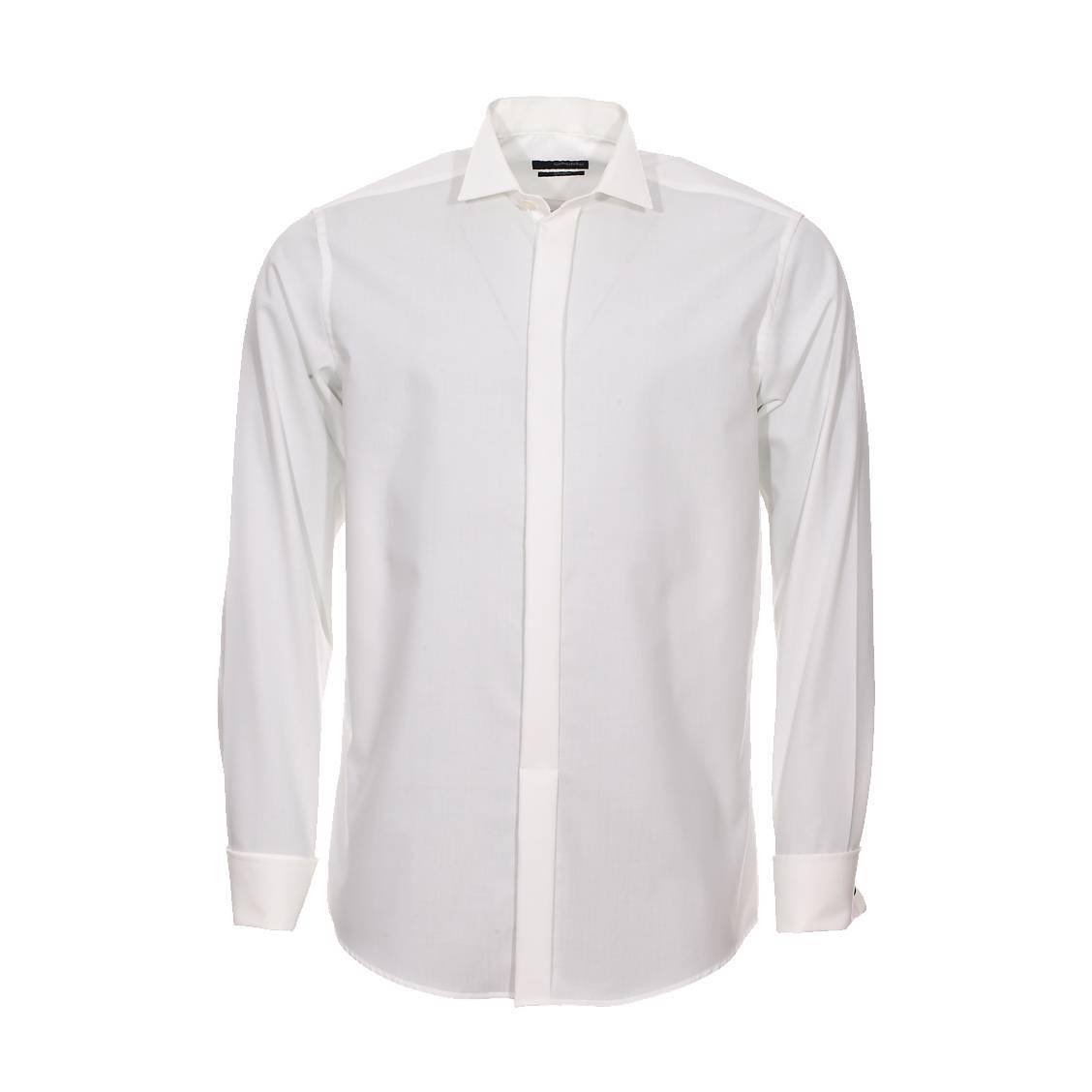chemise droite col cass seidensticker en coton cru sans repassage rue des hommes. Black Bedroom Furniture Sets. Home Design Ideas