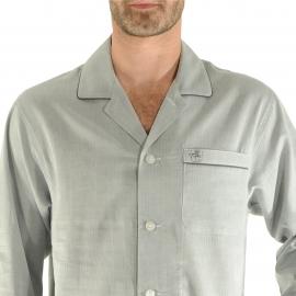 Liquette Gabriel Christian Cane en coton gris à motifs chevrons